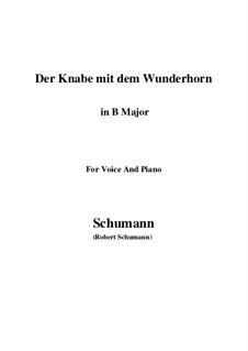 Three Poems, Op.30: No.1 Der Knabe mit dem Wunderhorn (B Major) by Robert Schumann