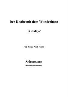 Three Poems, Op.30: No.1 Der Knabe mit dem Wunderhorn (C Major) by Robert Schumann