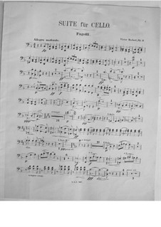 Suite for Cello and Orchestra, Op.3: Bassoon part by Victor Herbert