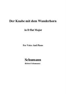 Three Poems, Op.30: No.1 Der Knabe mit dem Wunderhorn (D flat Major) by Robert Schumann