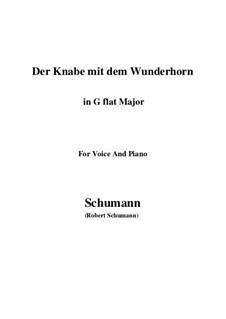 Three Poems, Op.30: No.1 Der Knabe mit dem Wunderhorn (G flat Major) by Robert Schumann