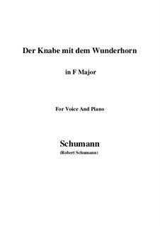 Three Poems, Op.30: No.1 Der Knabe mit dem Wunderhorn (F Major) by Robert Schumann