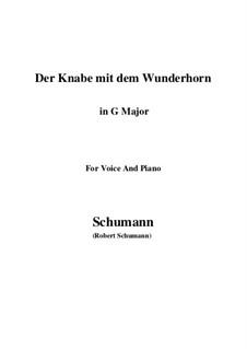 Three Poems, Op.30: No.1 Der Knabe mit dem Wunderhorn (G Major) by Robert Schumann