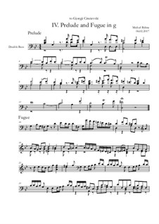 Prelude and Fugue No.4 g-moll: Prelude and Fugue No.4 g-moll by Michał Bylina