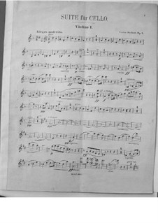 Suite for Cello and Orchestra, Op.3: Violin I part by Victor Herbert