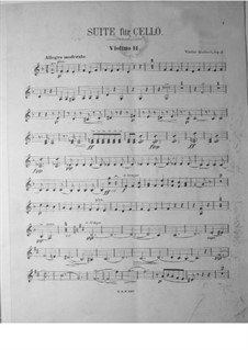 Suite for Cello and Orchestra, Op.3: Violin II part by Victor Herbert