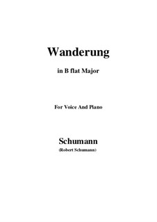 Twelve Poems for Voice and Piano, Op.35: No.7 Wanderung (Wandering) B flat Major by Robert Schumann
