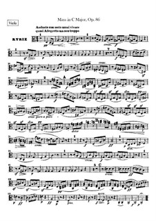 Mass in C Major, Op.86: Viola part by Ludwig van Beethoven