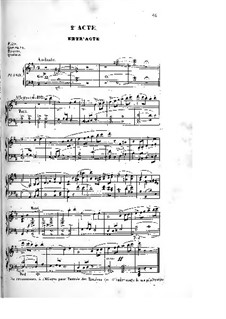 Les rosières: Act II, for Soloists, Choir and Piano by Ferdinand Herold