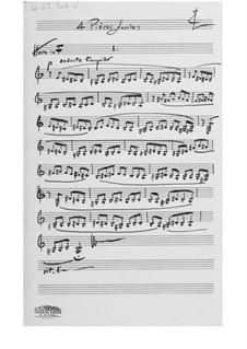 Quatre pièces faciles pour être jouées à deux et à trois: French Horn Part by Ernst Levy