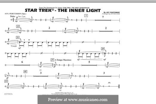 Star Trek - The Inner Light: Aux Percussion part by Jay Chattaway