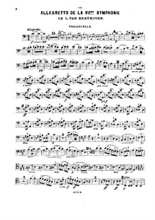 Movement II: Version for piano trio – cello part by Ludwig van Beethoven