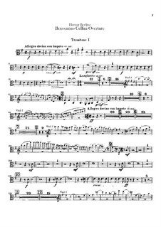 Benvenuto Cellini, H.76 Op.23: Overture – trombones and tuba parts by Hector Berlioz