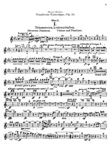 Symphonie fantastique (Fantastic Symphony), H.48 Op.14: Oboes and cor anglais parts by Hector Berlioz