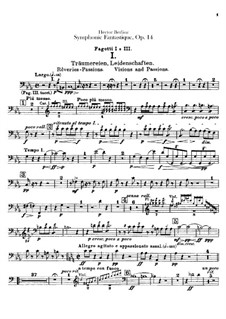 Symphonie fantastique (Fantastic Symphony), H.48 Op.14: Bassoons parts by Hector Berlioz