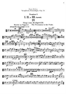 Symphonie fantastique (Fantastic Symphony), H.48 Op.14: Trombones and tubas parts by Hector Berlioz