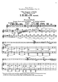 Symphonie fantastique (Fantastic Symphony), H.48 Op.14: Percussions parts by Hector Berlioz