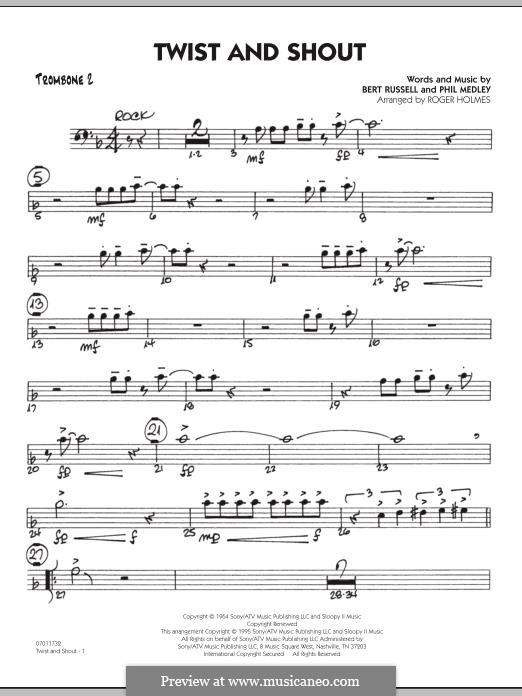 Twist and Shout (The Beatles), for Orchestra (arr. Roger Holmes): Trombone 2 part by Bert Russell, Phil Medley