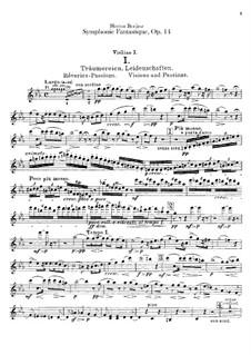 Symphonie fantastique (Fantastic Symphony), H.48 Op.14: Violins I part by Hector Berlioz