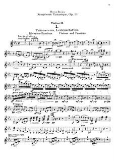 Symphonie fantastique (Fantastic Symphony), H.48 Op.14: Violins II part by Hector Berlioz