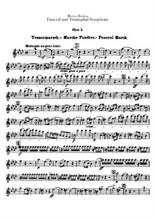 Grand Funeral and Triumphal Symphony, H.80 Op.15: Oboes parts by Hector Berlioz