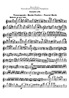 Grand Funeral and Triumphal Symphony, H.80 Op.15: Clarinet in Es part by Hector Berlioz