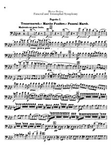 Grand Funeral and Triumphal Symphony, H.80 Op.15: Bassoons and contrabassoon parts by Hector Berlioz