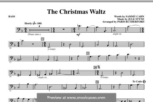 The Christmas Waltz: Bass part by Jule Styne