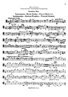 Grand Funeral and Triumphal Symphony, H.80 Op.15: Trombone solo part by Hector Berlioz