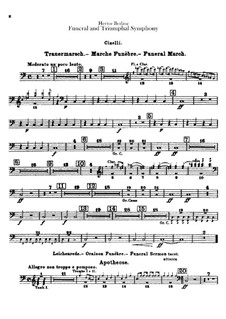 Grand Funeral and Triumphal Symphony, H.80 Op.15: Cymbals part by Hector Berlioz