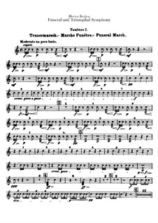 Grand Funeral and Triumphal Symphony, H.80 Op.15: Snare drums parts by Hector Berlioz