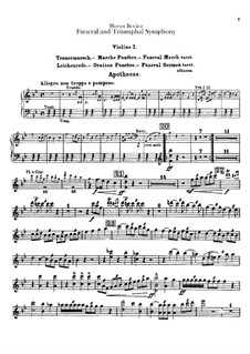 Grand Funeral and Triumphal Symphony, H.80 Op.15: Violins parts by Hector Berlioz