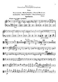 Grand Funeral and Triumphal Symphony, H.80 Op.15: Violas parts by Hector Berlioz