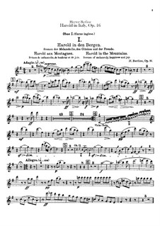 Harold en Italie, H.68 Op.16: Oboes and cor anglais parts by Hector Berlioz
