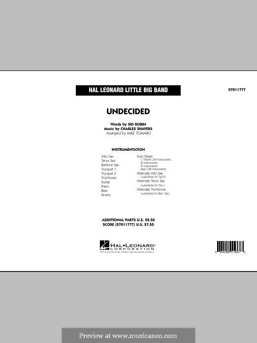 Undecided (Ella Fitzgerald): Full Score by Charles Shavers