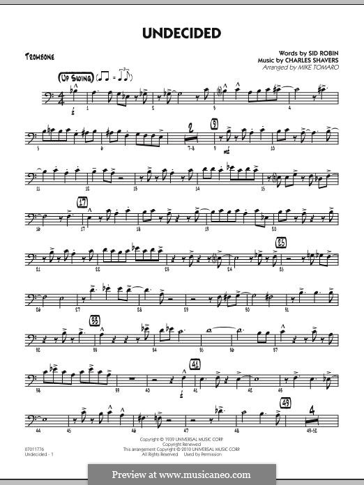 Undecided (Ella Fitzgerald): Trombone part by Charles Shavers