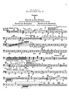 Harold en Italie, H.68 Op.16: Percussions parts by Hector Berlioz
