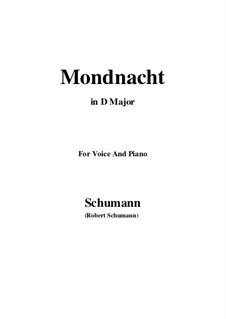No.5 Mondnacht (Moonlight Night): D Major by Robert Schumann