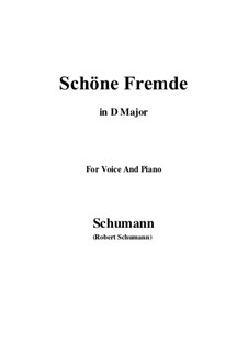 No.6 Schöne Fremde (In a Fair and Foreign Land): D Major by Robert Schumann
