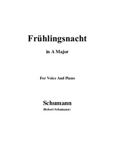 No.12 Frühlingsnacht (Spring Night): A Major by Robert Schumann