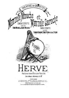 Mam'zelle Nitouche: For piano by Florimond Hervé