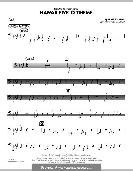 Jazz Ensemble by John Berry: Tuba part by Mort Stevens