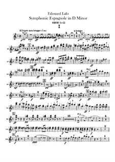 Spanish Symphony in D Minor, Op.21: Oboes part by Édouard Lalo