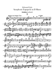 Spanish Symphony in D Minor, Op.21: Trumpets part by Édouard Lalo