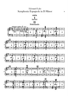 Spanish Symphony in D Minor, Op.21: Harp Part by Édouard Lalo