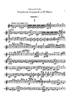 Spanish Symphony in D Minor, Op.21: Violins Parts by Édouard Lalo