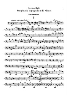 Spanish Symphony in D Minor, Op.21: Double basses part by Édouard Lalo