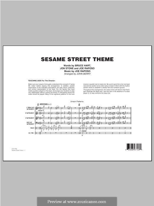 Sesame Street Theme: Full Score by Joe Raposo