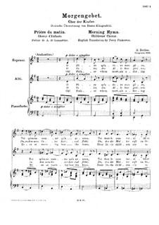 Morning Hymn, H.112 Op.19 No.4: Morning Hymn by Hector Berlioz