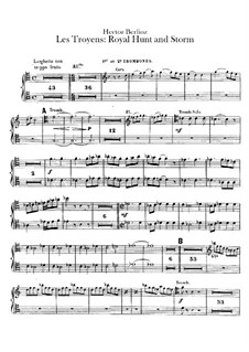 Les Troyens (The Trojans), H.133 Op.29: Act IV 'Royal Hunt and Storm' – trombones and ophicleide (or tuba) parts by Hector Berlioz
